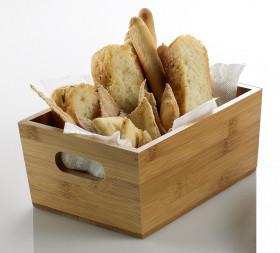 Presentatie bakjes bamboe